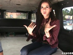 Aria Rae is in the hot sex adventure on the Bang Bus