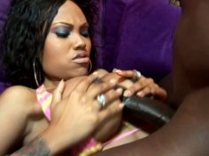 Kinky ghetto hoe Lacey Duvalle gets her tight poon drilled by BBC