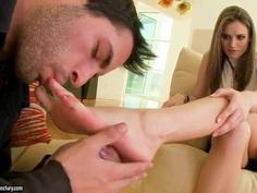 Foot mania with Tori Black.