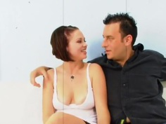 Husband watches his redhead wife get pounded by a BBC