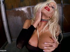 Epic milf Puma Swede in leather outfit shows her big cunt