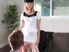 Pervy student teen Kendall Kross sneaks one in with photographer