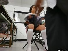 A slutty Asian female tailor gets ass fucked hard by unsatisfied black customer