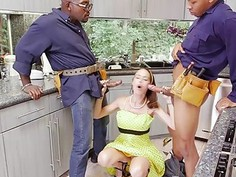 Mckenzie Lee gets stuffed with two giant cocks